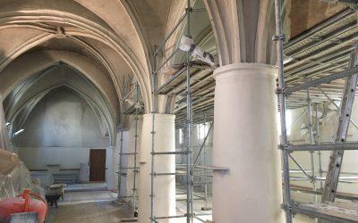 Eglise de Courtry (77)            en cours de travaux