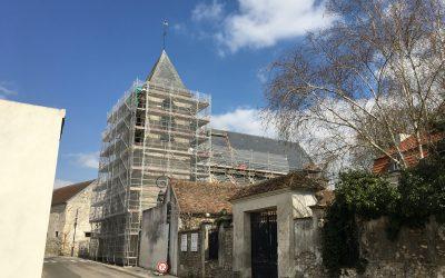 Eglise de Nantouillet (77) en cours de travaux