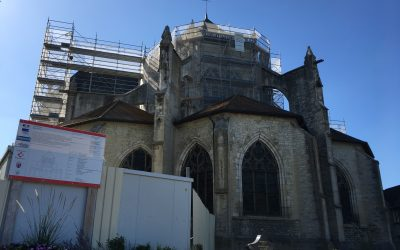 Eglise de Bar sur Seine (10) en cours de travaux