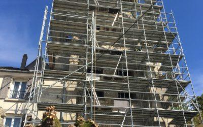 Eglise de Thieux (77)             en cours de travaux