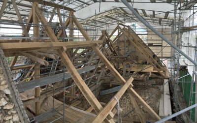 Eglise de Puits et Nuisement (10) en cours de travaux